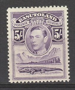 BASUTOLAND 1938 KGVI CROCODILE 5/-