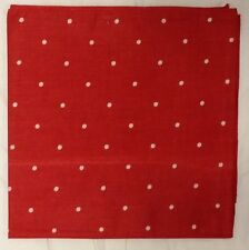 Giant Extra Large Oversize Bandana, 42x42 inches, Red with White Polka Dots