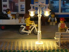 lampadaire double lamppost LED 10182 10185 10190 10197 train 12v modular city