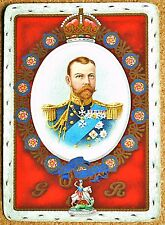 ROYAL - KING GEORGE V - SINGLE ANTIQUE WIDE SWAP PLAYING CARD