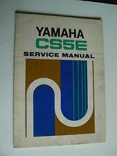 manuel d' entretien YAMAHA  CS 5 E  ( 200cc ) de novembre 1971