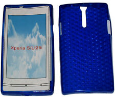 Pattern Soft Gel Case Protector Cover For Sony Xperia S LT26i LT26 Blue New UK