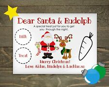 Santa Platter Christmas Eve Milk and Cookies for Santa Personalized Reindeer