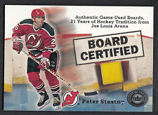 Peter Stastny 2001-02 Fleer Greats Game Board Certified Piece of Joe Lewis Arena