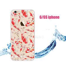 Coque iphone 6/6s transparent motifs poisson auratus rouge silicone souple