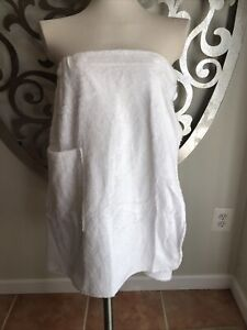 NWT Fishers Finery Cotton Spa Towel Pocket White Bamboo NEW