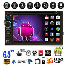 "Android 4.4 3G WIFI 2 Din 6.5"" Car GPS Nav Stereo DVD MP3 Player BT FM Radio AUX"