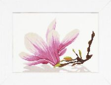 Lanarte - Counted Cross Stitch Kit - Magnolia Twig with Flower - PN-0008304