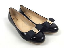 SALVATORE FERRAGAMO Varina Black Patent Leather Ballet Flats EUR36 UK3 Worn Once
