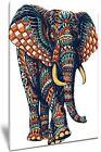 Bohemian Mandala Elephant - 24 X 34 INCH Framed High Definition Canvas Print