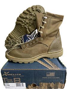 USMC Wellco RAT E163 Temperate Weather Combat Boots Vibram Size 10W New