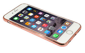 Eloja® iPhone 6 Plus Hülle TPU Cover Case Bumber Metall Optik RoséGold
