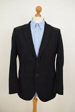 GANT Pinstripe Blazer 100% Wool Mens Size 50 40/42 Large/XL Sport Jacket Grey