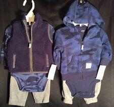 Nwt Infant Boys Carter's Fleece 6pc Camo Sets 3m Tops Pants Jacket Vest New $62