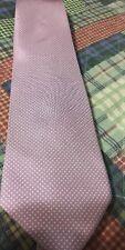 Lancel Men's Necktie France Pink Purple Repeat Design