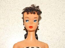 Barbie:  VINTAGE Brunette #3 PONYTAIL BARBIE Doll NO FADING!