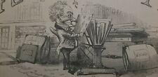 1840's John Leech Punch Cartoon ORIGINAL PRINT Artist Cover Illustration Matted
