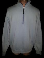 HUGO BOSS Distress Polo Mens Long Sleeve Light Weight Sweatshirt Blue Size Large