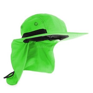 Boonie Snap Hat for Men Wide Brim Ear Neck Cover Sun Flap Bucket Hats Outdoors