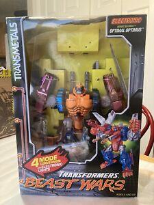 Transformers Beast Wars Optimal Optimus Transmetals AIB Complete!