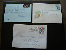 FRANCE - 3 enveloppes 1991 1991 1992 (cy34) french
