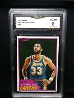 1981 Topps #20 KAREEM ABDUL-JABBAR Card Los Angeles Lakers HOF 8 NM-MT ⭐