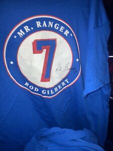 NY Rangers SGA 10/14/21 Mr Ranger rod gilbert XL t shirt MSG Opening Night