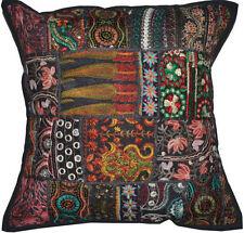 20x20 Indian Black Pillow Cushion ethnic pillow floor cushion tribal sofa pillow