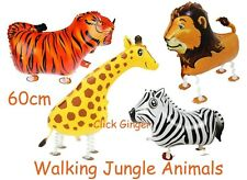 Walking Lion Giraffe Tiger Zebra Balloon Jungle Zoo Animals Helium Decoration