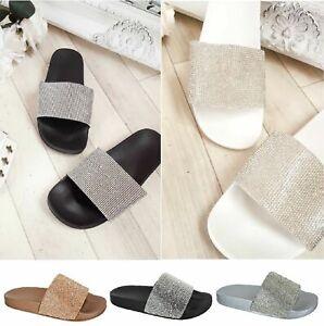 Ladies Casual Slippers Womens Summer Mules Slider Flip Flops Sandals SIZE UK 3 7