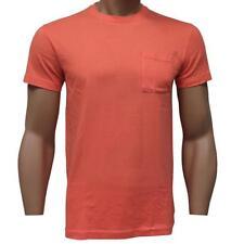 Oakley Primary Pocket Tee Size XL Coral Orange Mens Boys Plain Cotton T-shirt