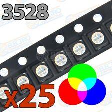 LED SMD 3528 20mA – RGB Tricolor Anodo comun - Lote 25 unidades - Arduino Electr