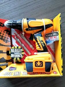 Lanard Toy Tools Workman Realistic Functions Spinning Power Drill w/Bits