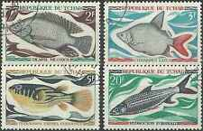 Timbres Poissons Tchad 216/9 o lot 8186