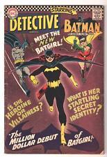 DC Comics DETECTIVE  BATMAN  #359 VG 4.0 1966 Silver age 1st Batgirl origin
