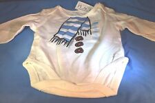 Unisex NWT Childrens Place Graphic Long Sleeve White bodysuit Size 3-6 months