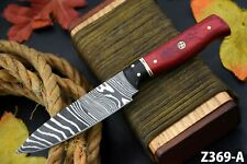 Custom Hand Forged Damascus Steel Chef Knife Handmade,Wooden Handle (Z369-A)
