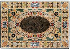 24x36 Inches Marble Patio Coffee Table Top Stone Dining Table Mosaic Art Inlaid