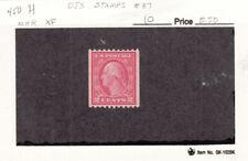 1915 Mint hinged 2ct Carmine Geo Washington Perf 10 Horz Coil #450 SCV=$12.50