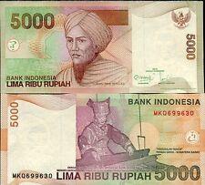 INDONESIA 5000 5,000 RUPIAH 2013 / 2001 P 142 m UNC