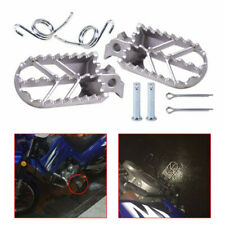 Silver Motorcycle Driver Foot Peg Kit Footrest For Suzuki Yamaha Honda Dirt Bike(Fits: 1986 KX250)