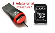 Kingston ADATTATORE TF MICRO SD a SD CARD + LETTORE MEMORIA reader lettore a USB