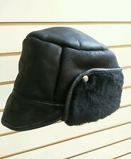 Sheepskin Trapper Hat Gents Black