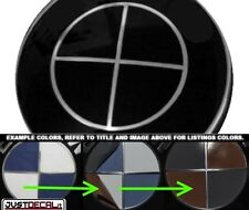 GLOSS BLACK OUT Vinyl Sticker Overlay COMPLETE SET hood trunk rim FIT BMW Emblem