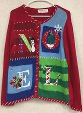 Tiara International Ugly Christmas Sweater Noel Size Large