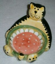 New! Vintage 1990's Fat Cat Soap Dish (Or Trinket Dish) ~ Great Cat Lover Gift!