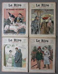LE RIRE rouge caricature Guerre 1914/1918 . 20 numéros BE