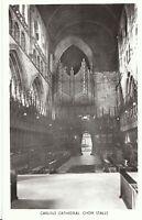 Cumbria Postcard - Carlisle Cathedral - Choir Stalls - Real Photograph   ZZ1989