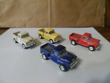 KINSMART 1/64 SCALE 55 CHEVY PICK UPS LOT OF 4