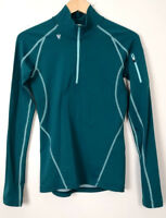 STOIC Womens S Thermal Mock Neck 1/4 Zip Green Long Sleeve Hiking Skiing Top